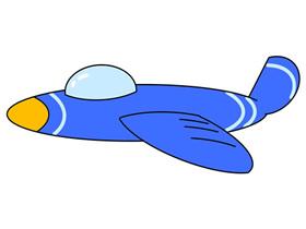 卡通战斗机简笔画画法图片步骤