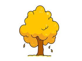 秋天的树简笔画画法图片步骤