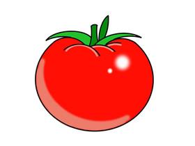 彩色番茄简笔画画法图片步骤