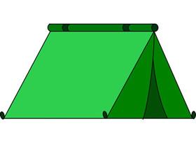 军用帐篷简笔画画法图片步骤