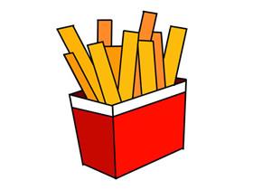 一盒薯条简笔画画法图片步骤