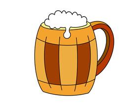 木杯啤酒简笔画画法图片步骤