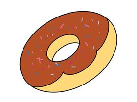 简单的甜甜圈简笔画画法图片步骤