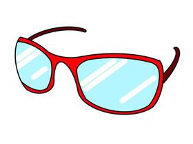 红色眼镜怎么画简笔画简单又漂亮