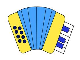 彩色手风琴简笔画画法图片步骤