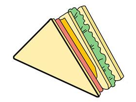 三明治怎么画简笔画简单又漂亮