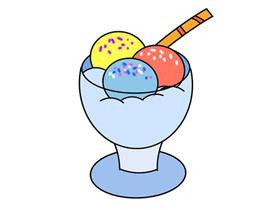 一碗冰激凌怎么画简笔画简单又漂亮