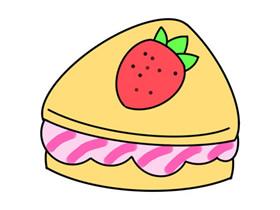 草莓三明治怎么画简笔画简单又漂亮