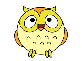 猫头鹰怎么画简笔画简单