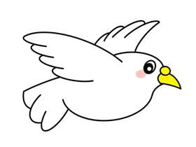 白鸽怎么画简笔画简单又漂亮
