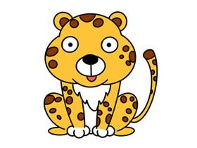 搞笑猎豹怎么画简笔画简单又搞笑
