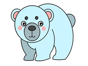 北极熊怎么画简笔画简单又漂亮