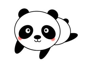 大熊猫宝宝怎么画简笔画简单又可爱